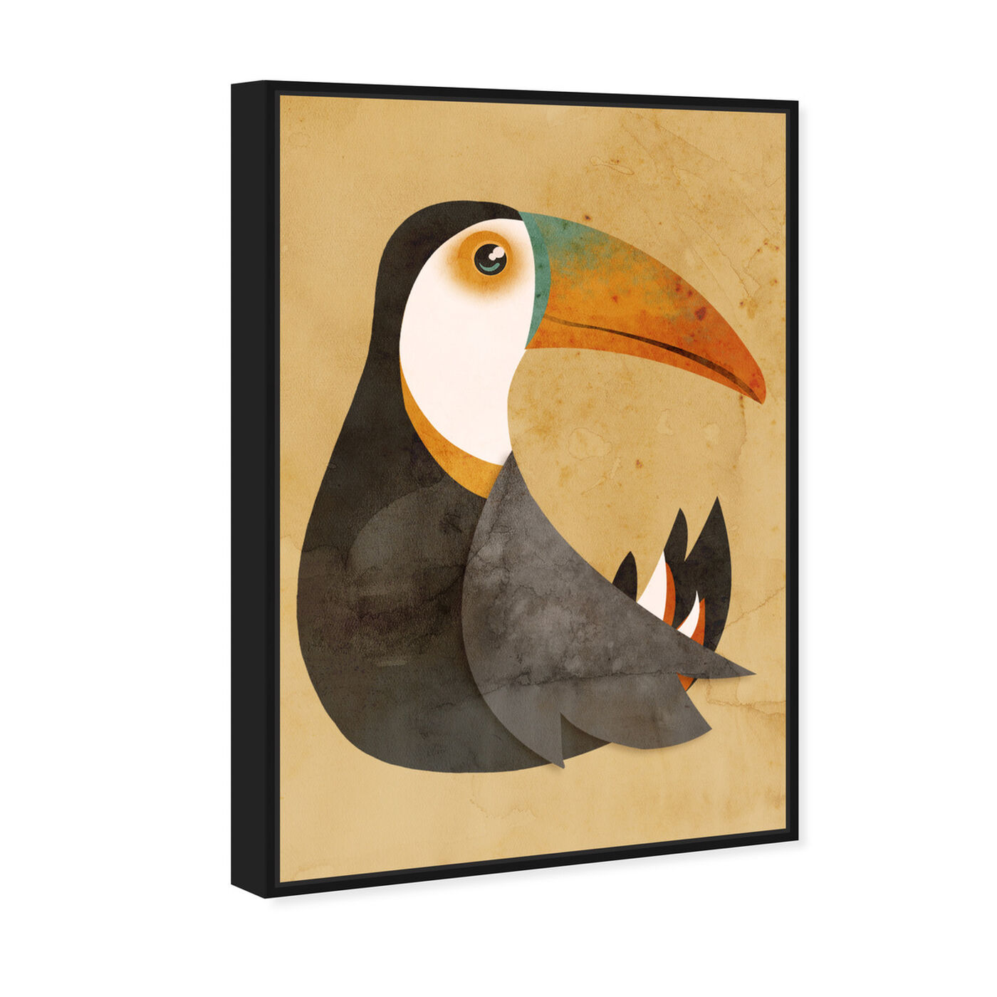 Angled view of Vibrant Toucan featuring animals and birds art.