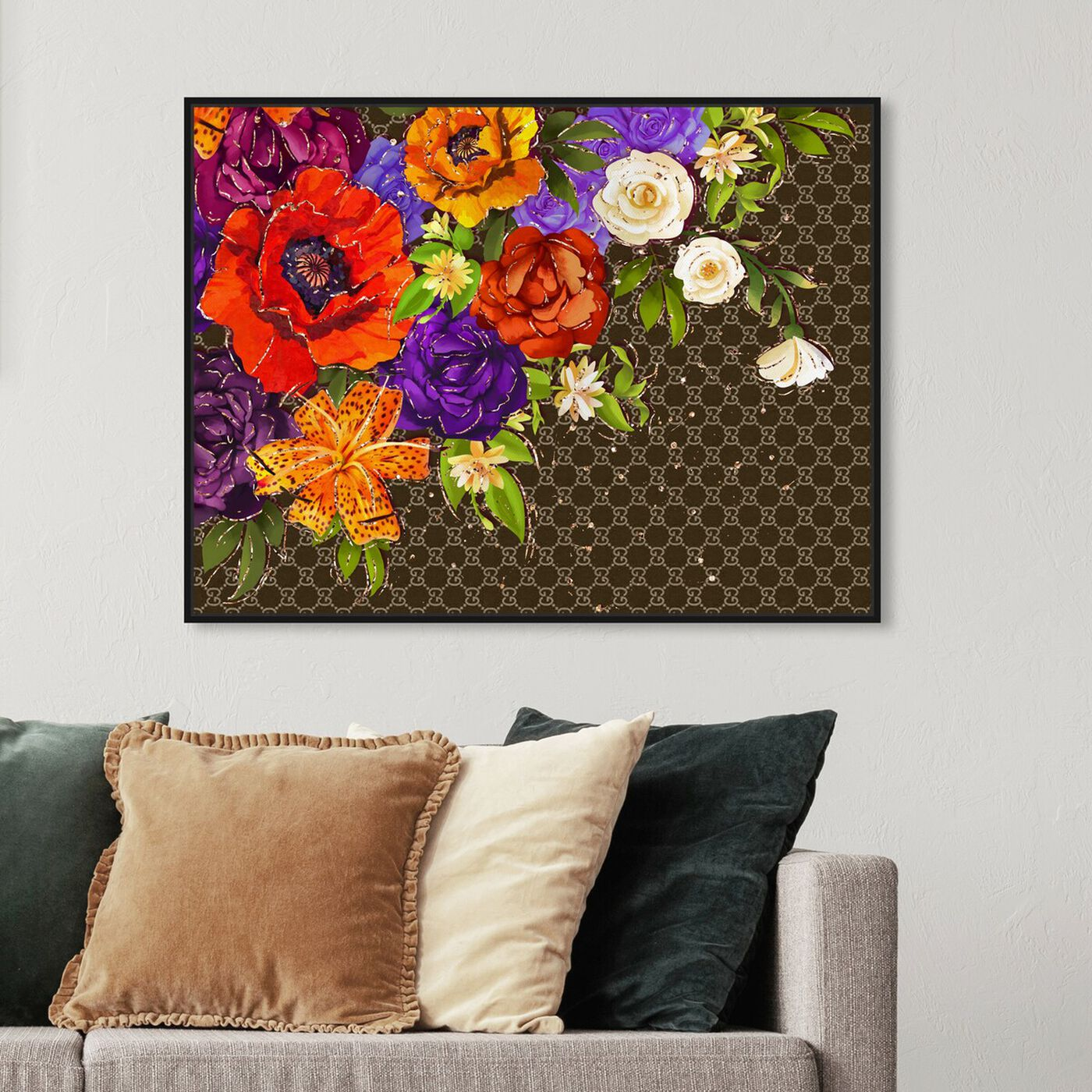 Hanging view of Firenze Fashion Floral featuring floral and botanical and florals art.