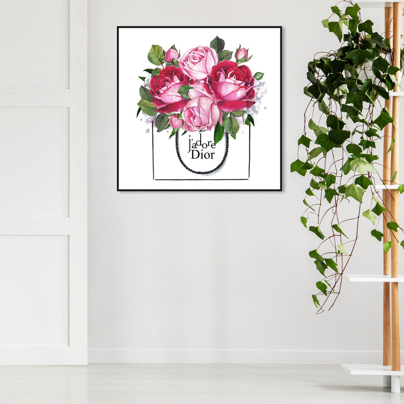 Hanging view of Doll Memories - Peonies II featuring floral and botanical and florals art.