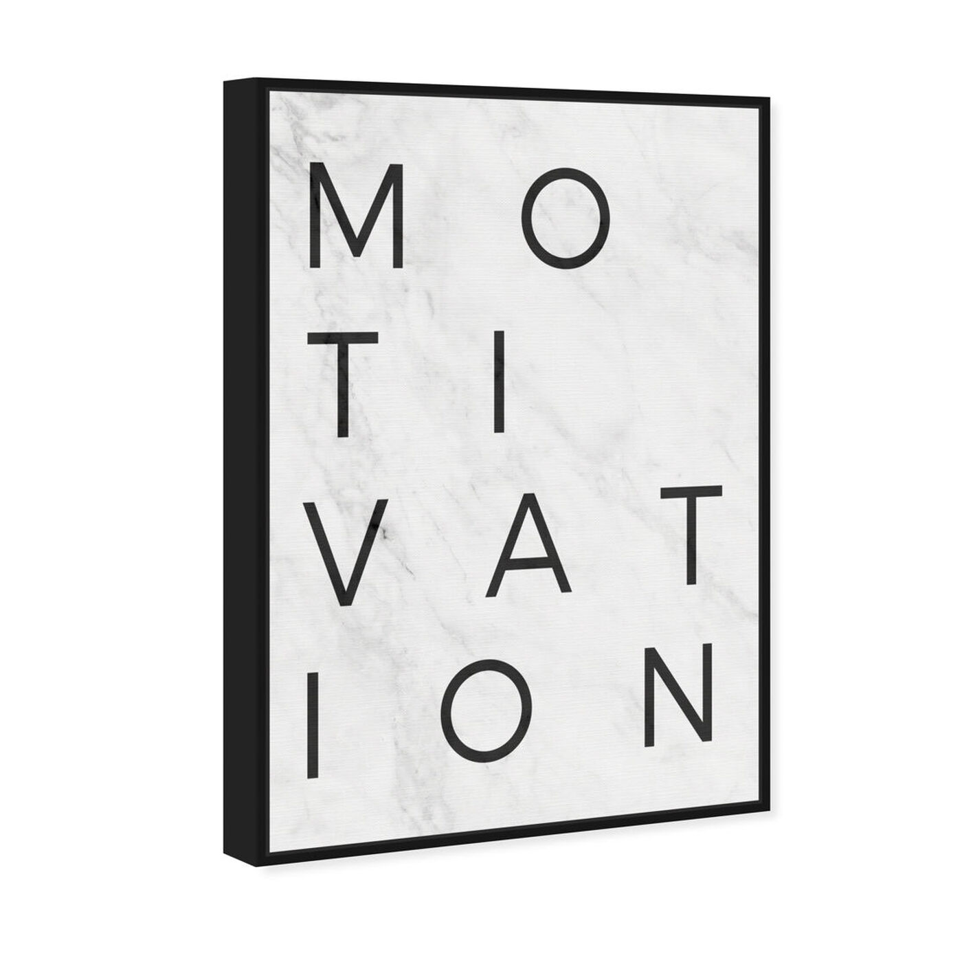 Angled view of Motivation Minimalist Marble Paper featuring typography and quotes and motivational quotes and sayings art.