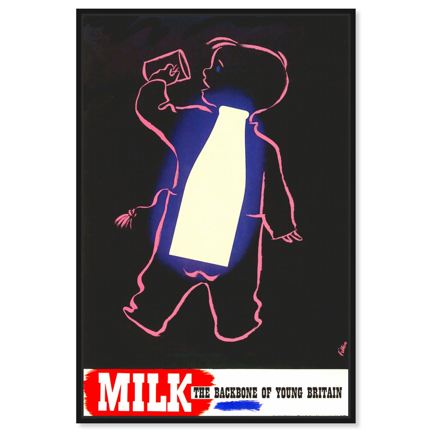 Front view of Milk featuring advertising and posters art.