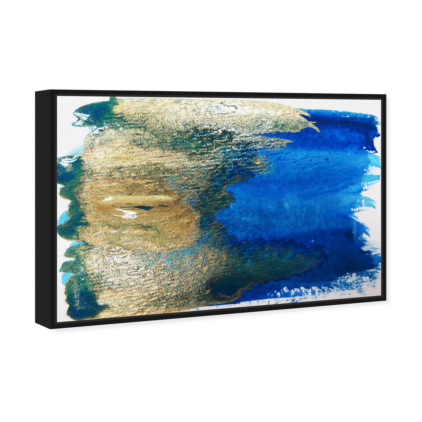 Angled view of Impero featuring abstract and watercolor art.