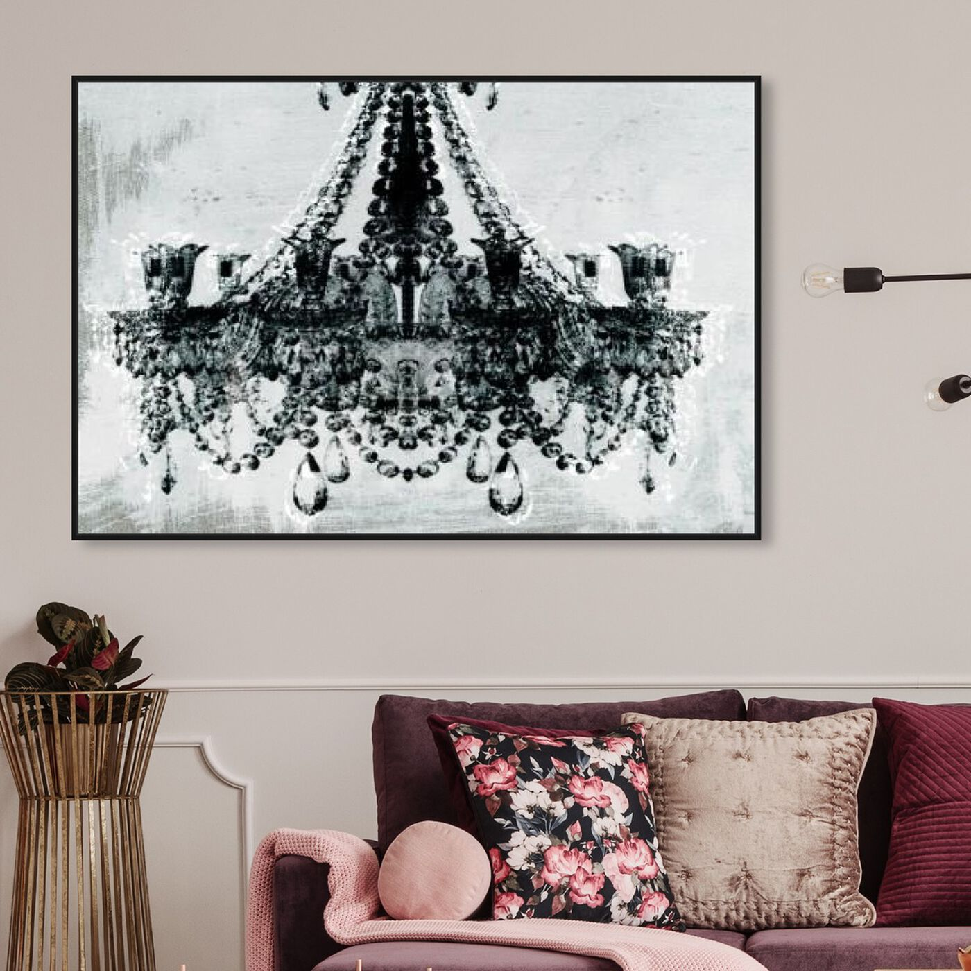 Hanging view of Dramatic Entrance featuring fashion and glam and chandeliers art.