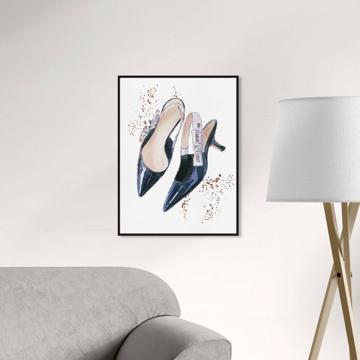 Hanging view of I adore my daily shoes featuring fashion and glam and shoes art.