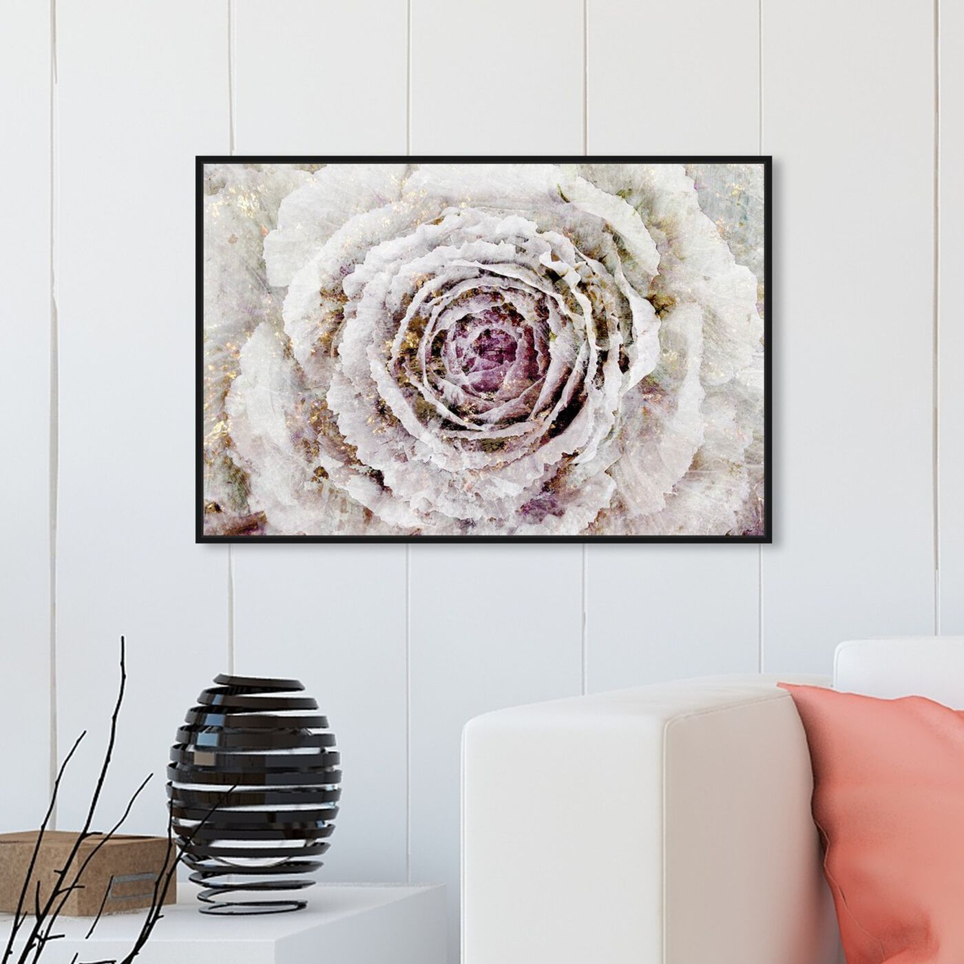 Hanging view of Winter New York Flower featuring floral and botanical and florals art.