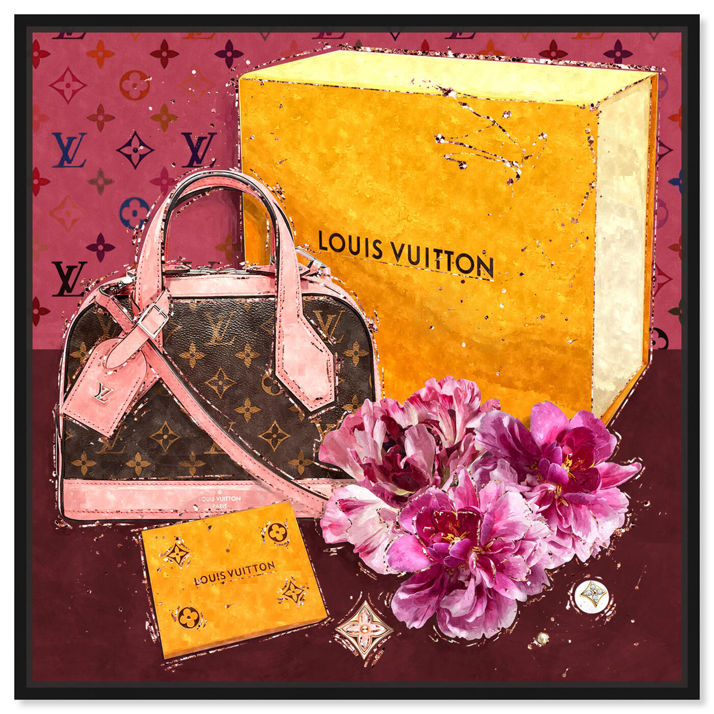 Front view of Garden Treasures featuring fashion and glam and handbags art.