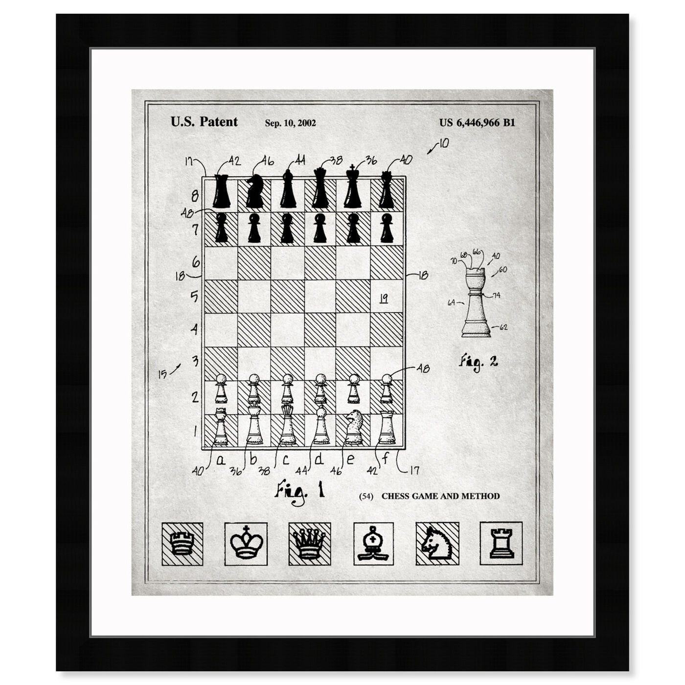Front view of Chess Game and Method 2000 art.