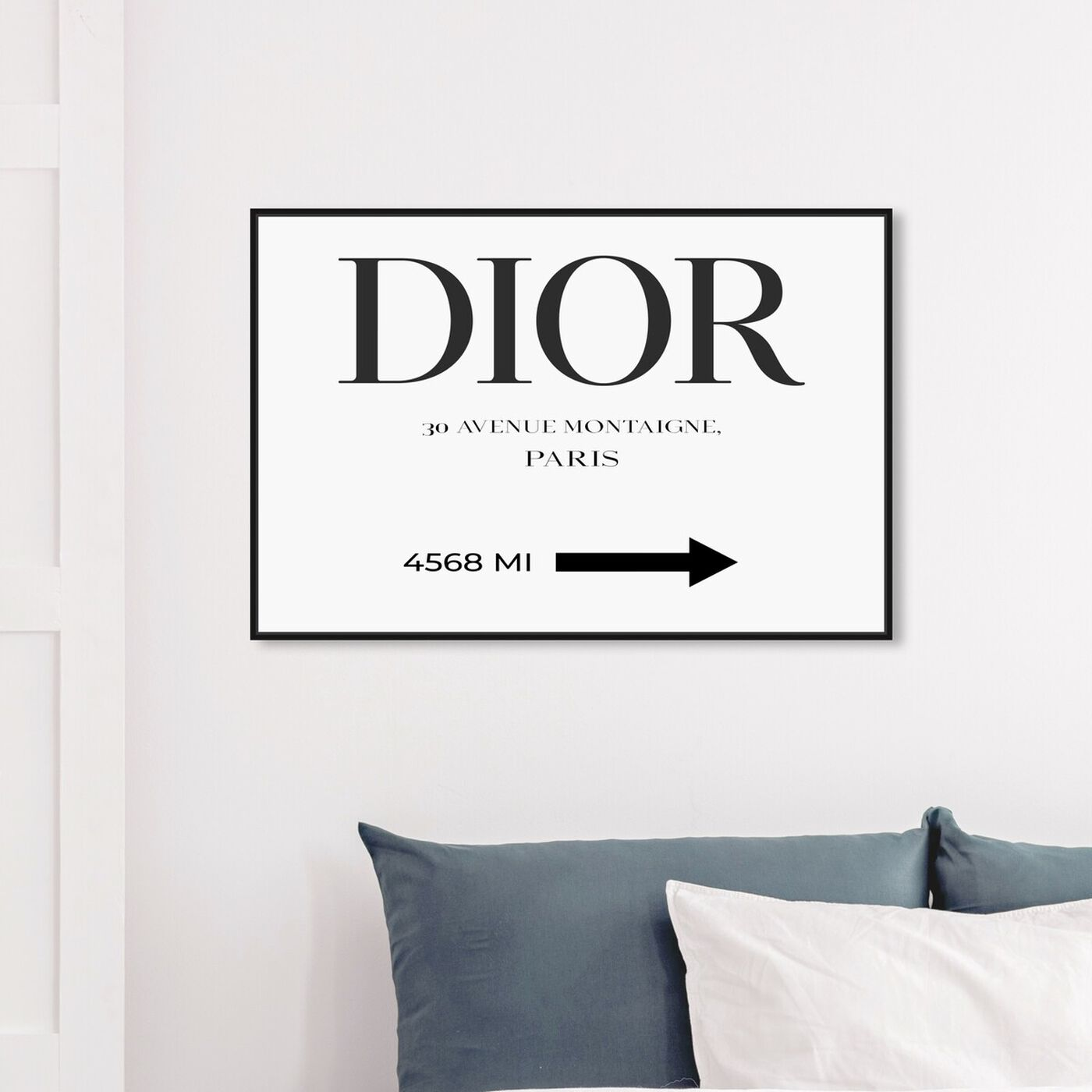 Hanging view of Haute Collection Road Sign Minimalist featuring fashion and glam and road signs art.