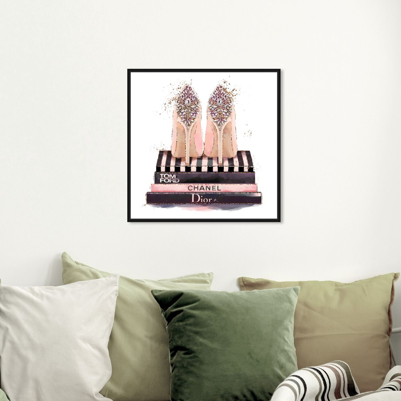 Hanging view of Treasured Shoes featuring fashion and glam and shoes art.