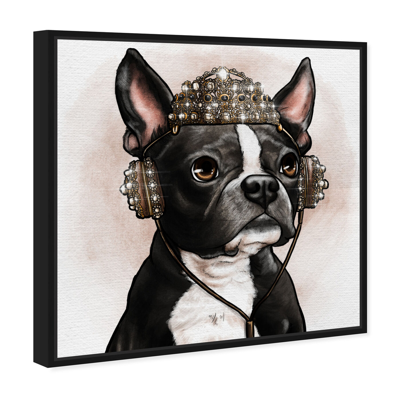Angled view of Crowned Terrier featuring animals and dogs and puppies art.