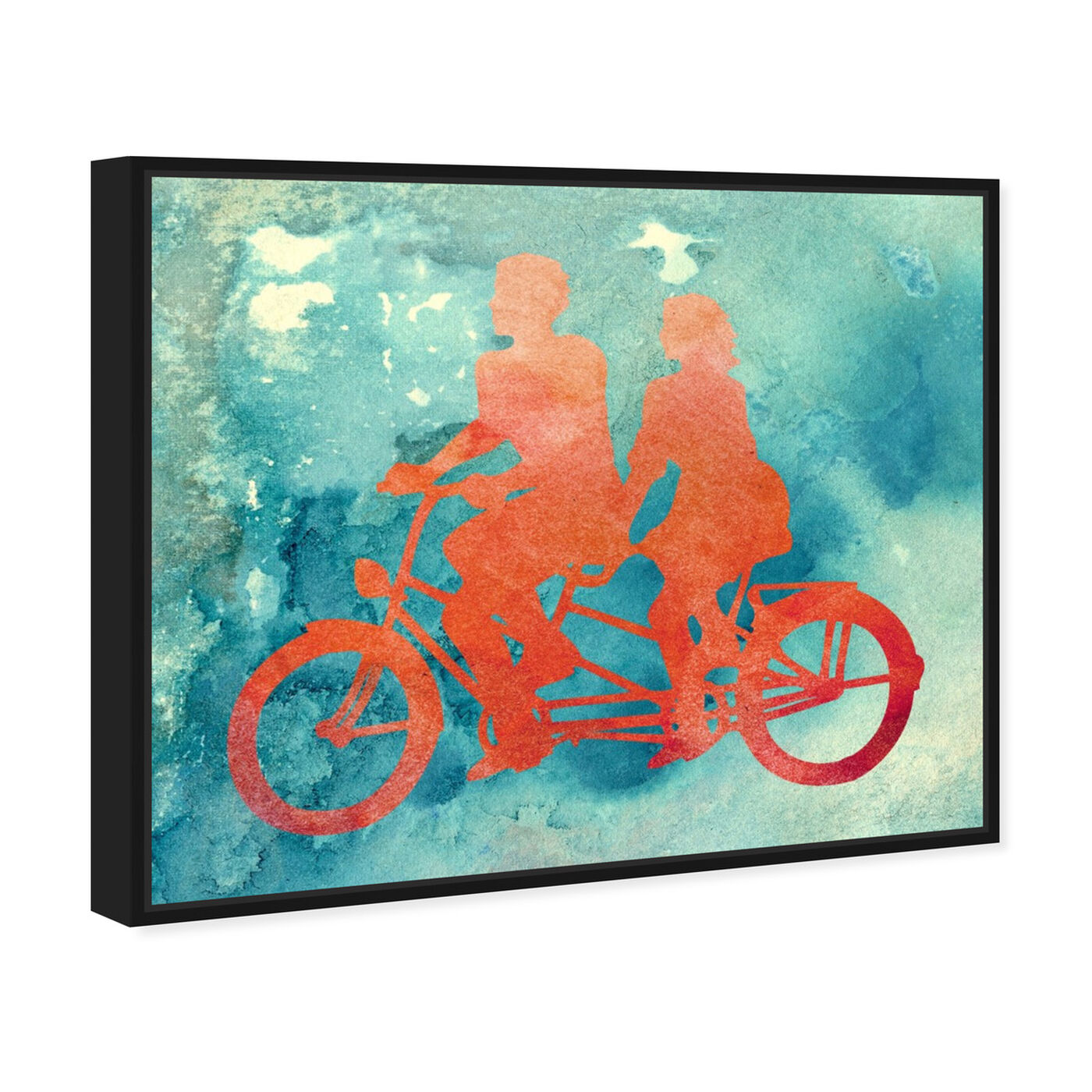 Angled view of La Bicyclette featuring transportation and bicycles art.