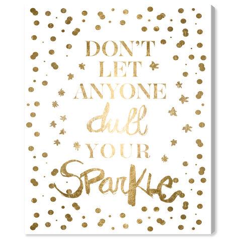 Always Shine Confetti Gold Foil