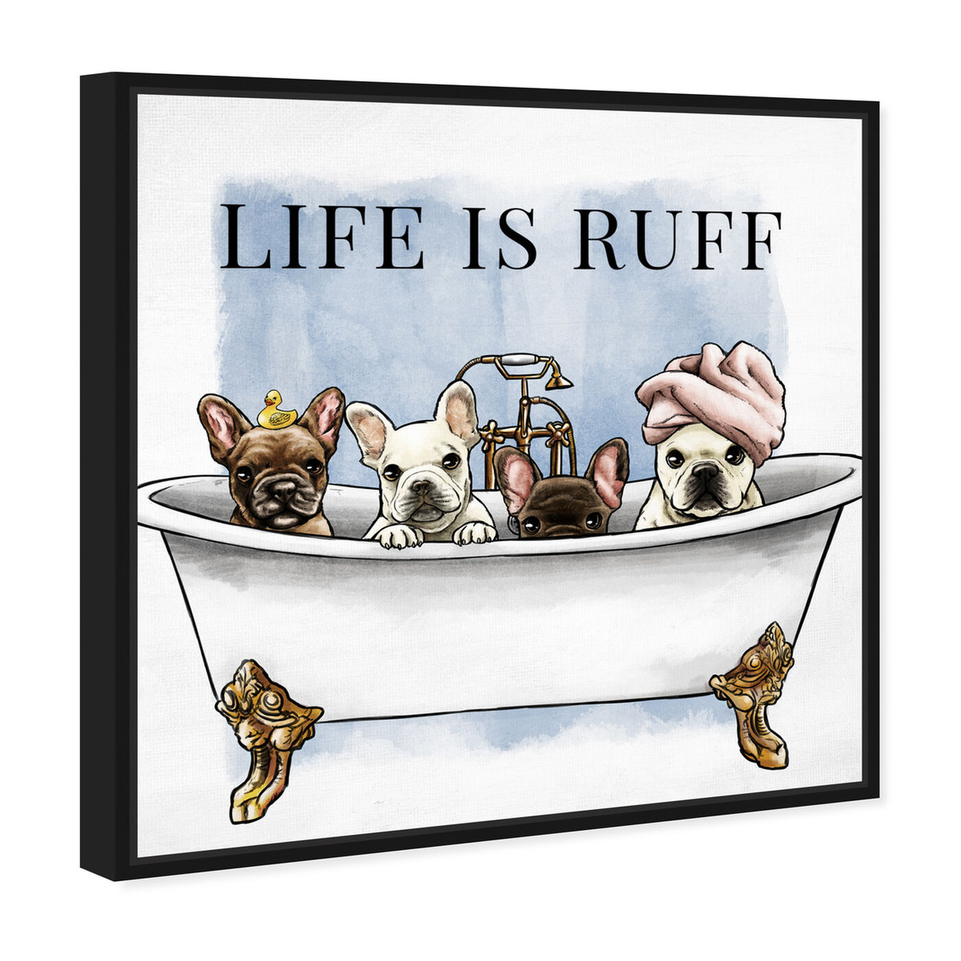 Angled view of Life is Ruff featuring bath and laundry and bathtubs art.