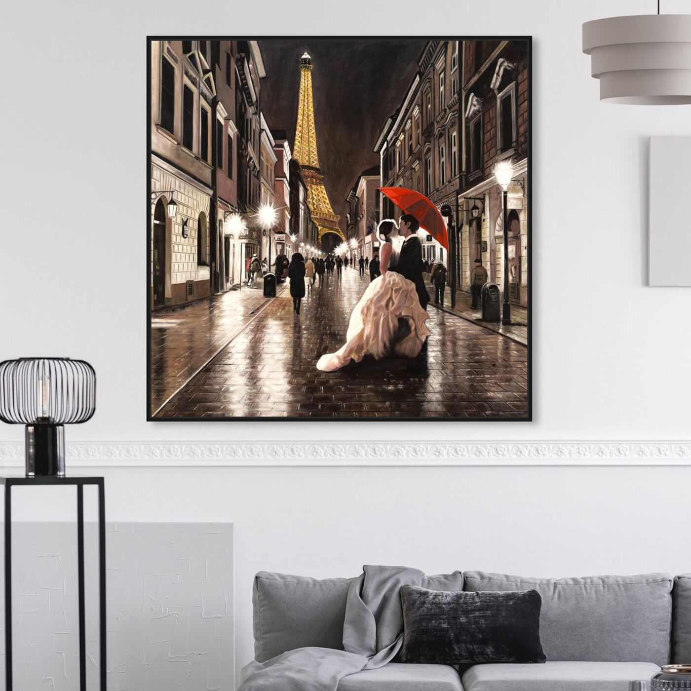 Hanging view of Sai - Passion Rue 1BN2574 featuring cities and skylines and european cities art.