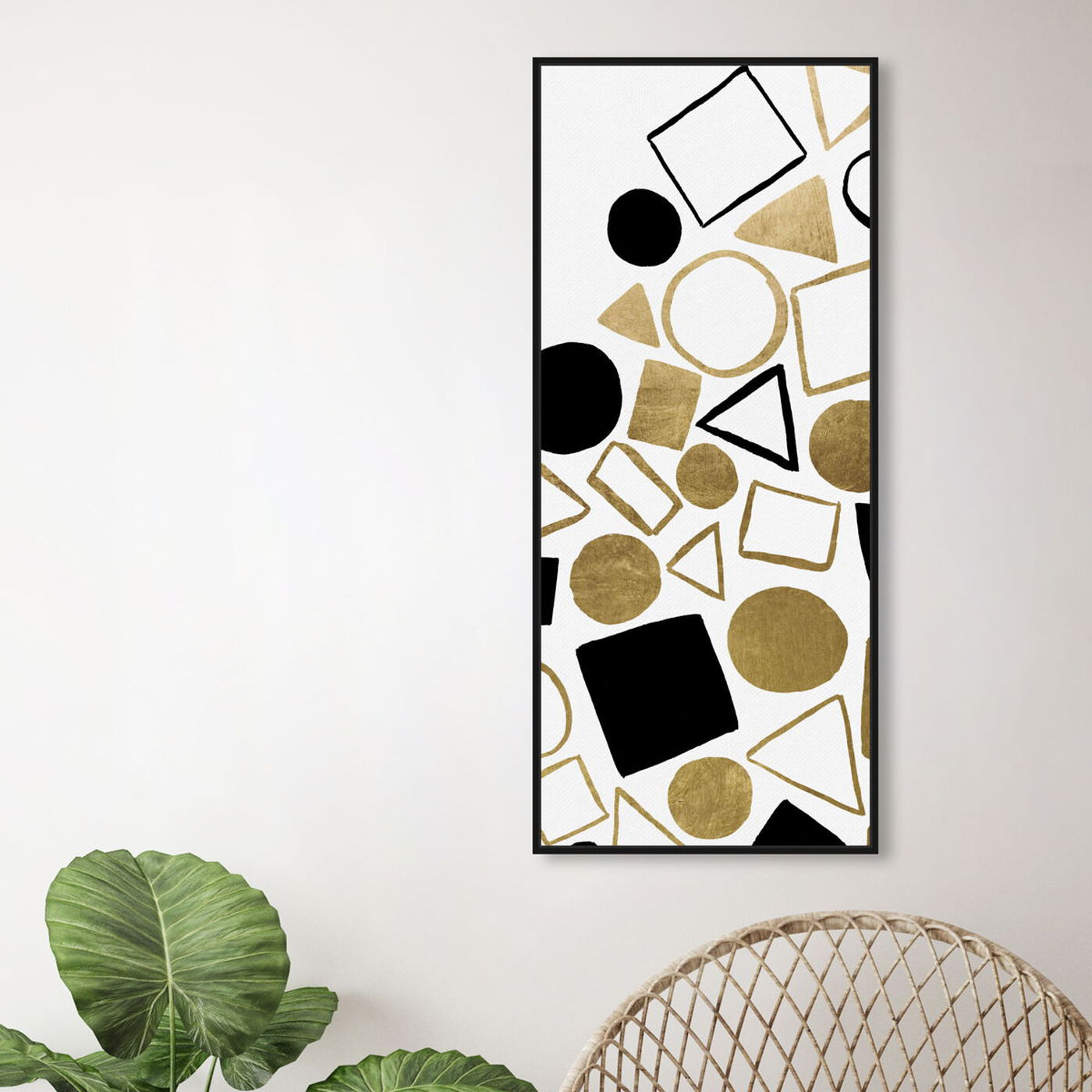 Hanging view of Geometric Game featuring abstract and geometric art.