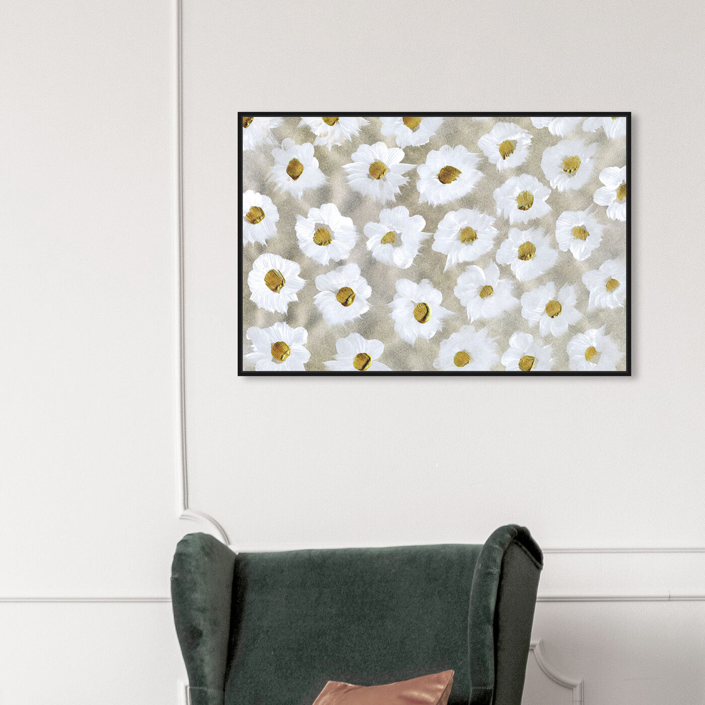 Hanging view of Margaritas featuring floral and botanical and florals art.