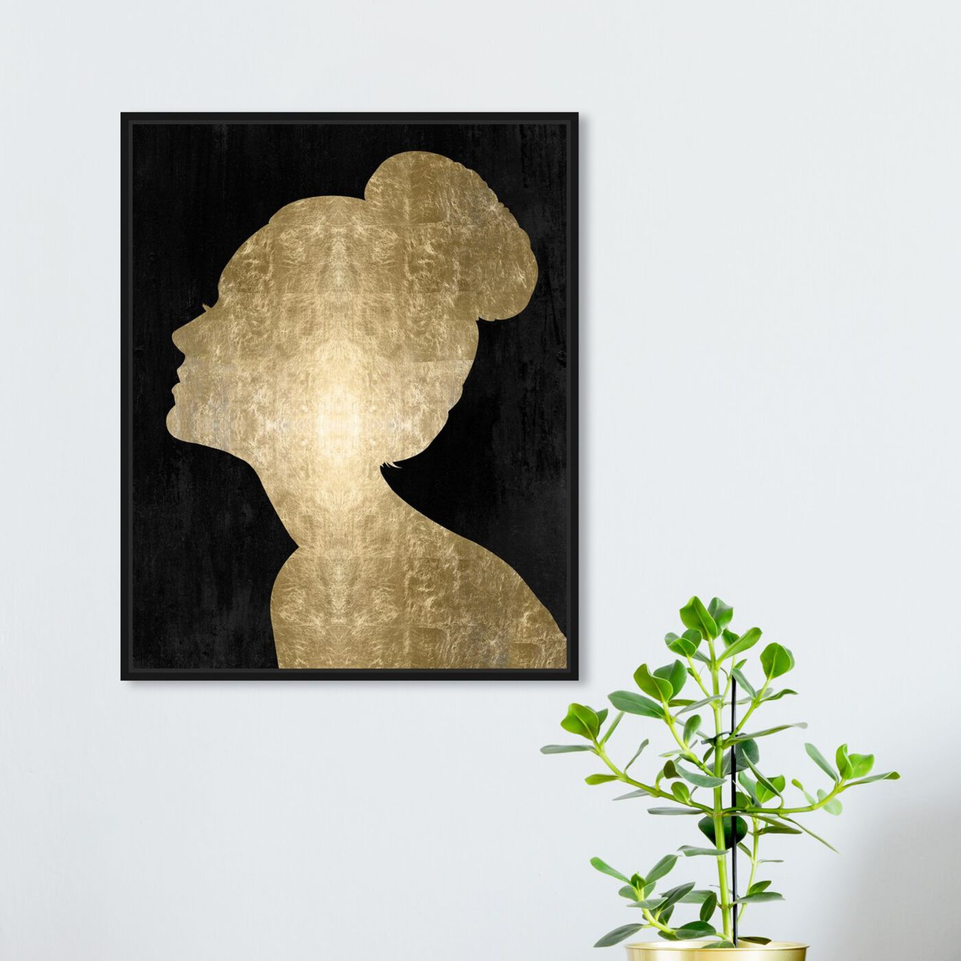 Hanging view of Flower Built Glam featuring people and portraits and silhouettes art.