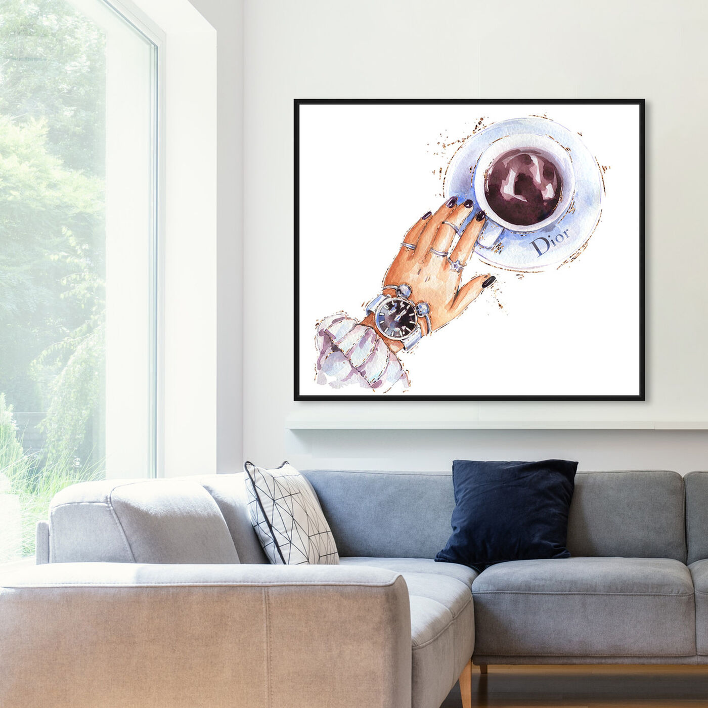 Hanging view of Silver Watch and Chocolate featuring fashion and glam and accessories art.