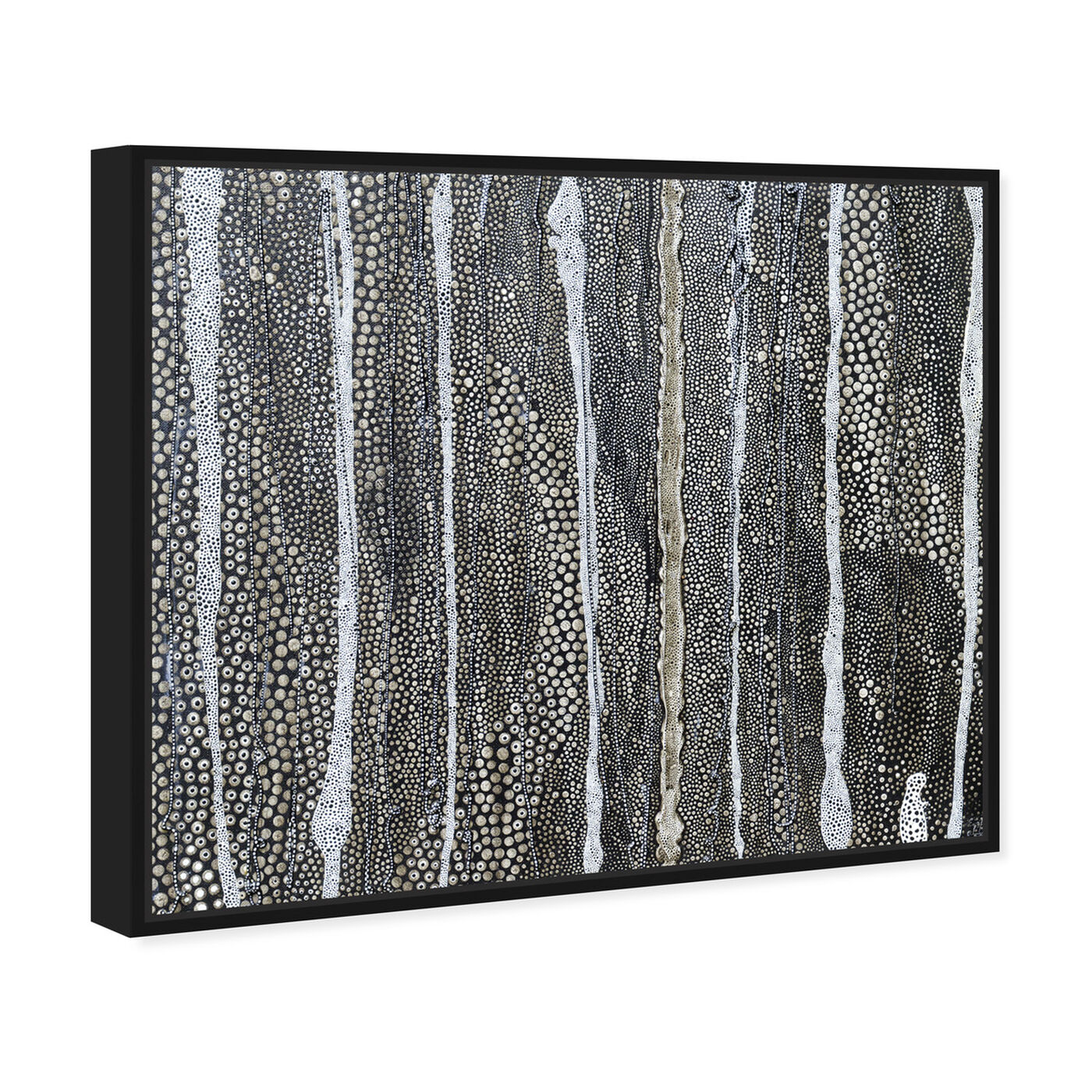 Angled view of Enriqueta Ahrensburg - Black and white featuring abstract and textures art.
