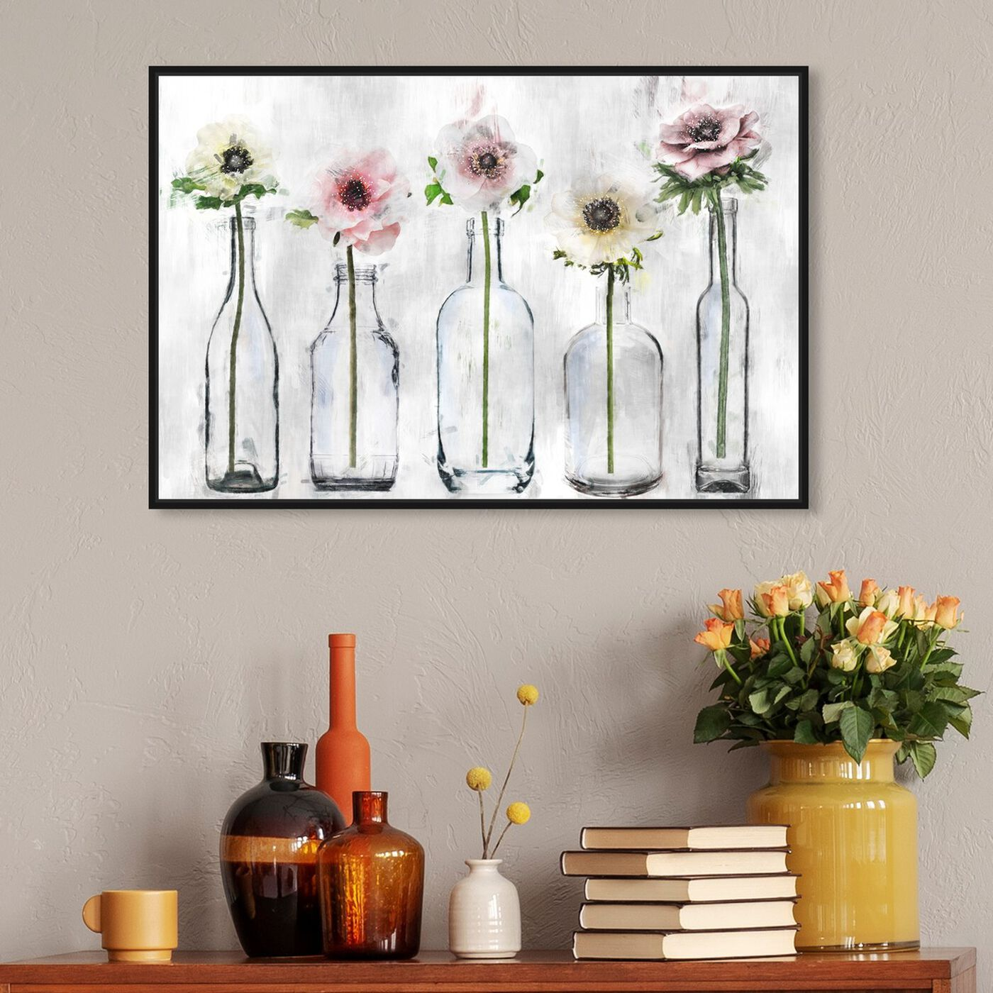 Hanging view of Anemone Floral featuring floral and botanical and florals art.