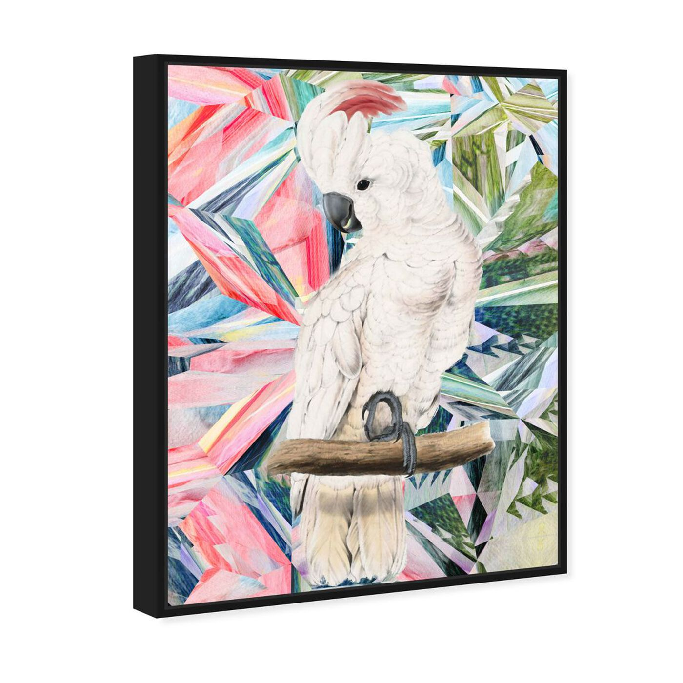 Angled view of Modern Cockatoo featuring animals and birds art.