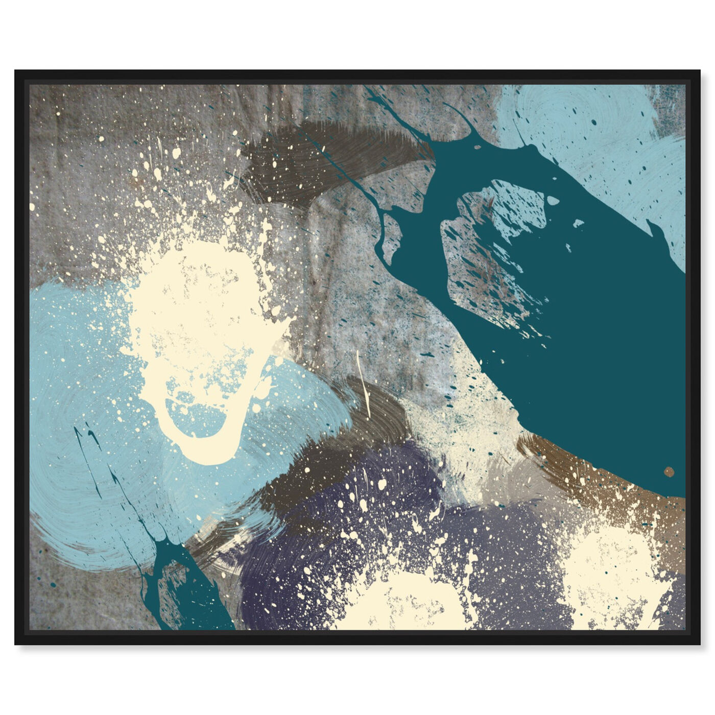Front view of Storm featuring abstract and paint art.