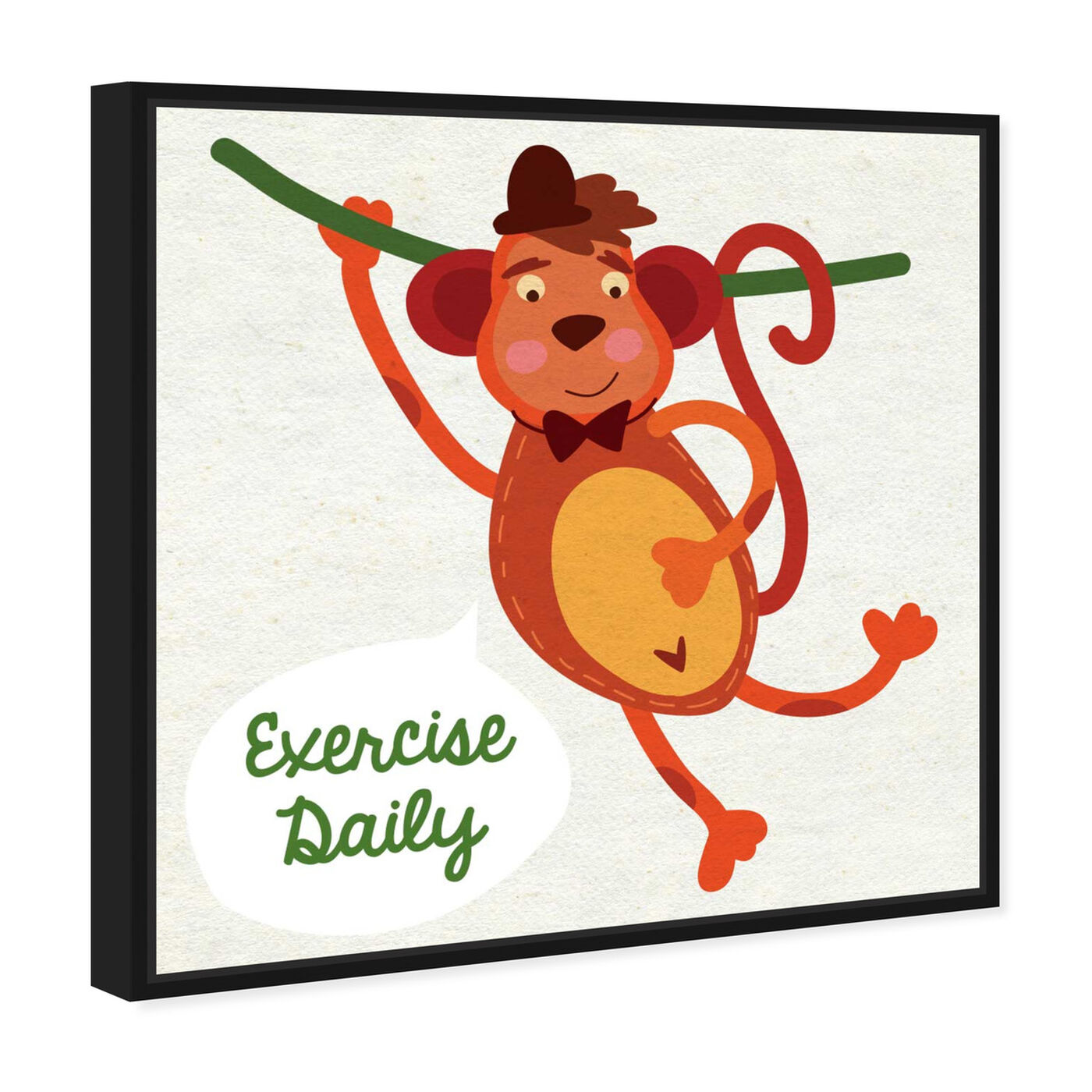Angled view of Monkey Exercise featuring typography and quotes and family quotes and sayings art.