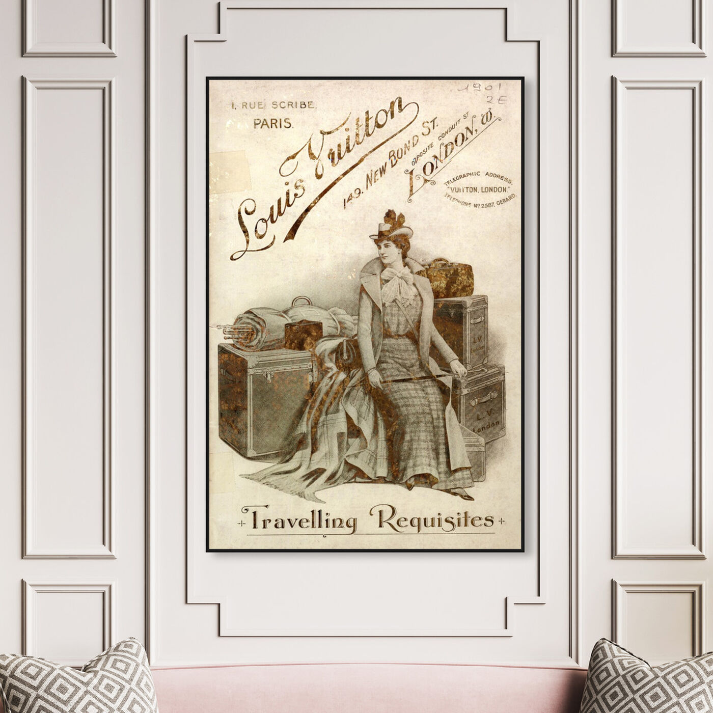 Hanging view of Travelling Requisites featuring fashion and glam and travel essentials art.
