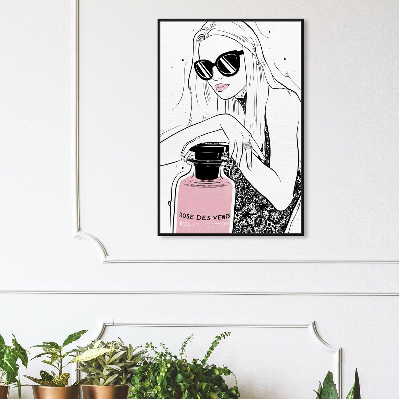 Hanging view of French Perfume Girl Classic featuring fashion and glam and perfumes art.