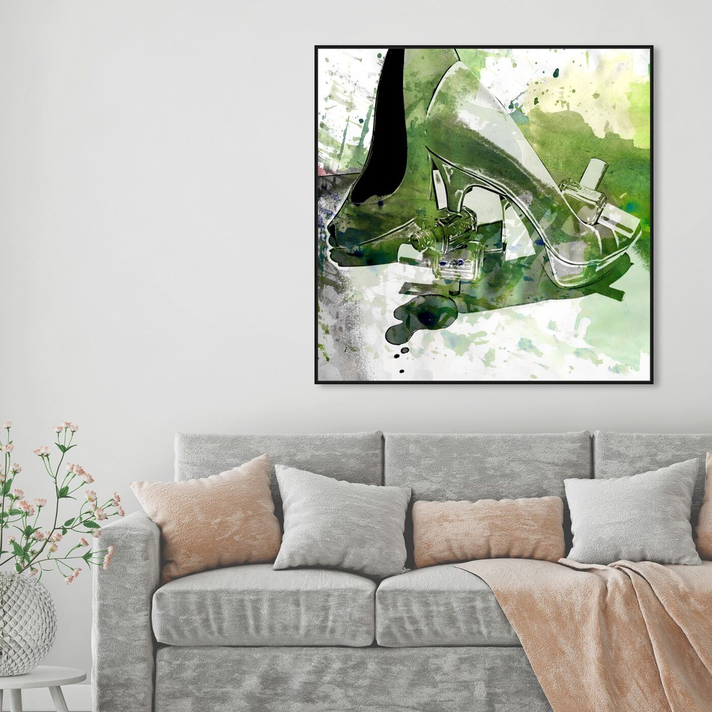 Hanging view of Emerald Shoes featuring fashion and glam and shoes art.