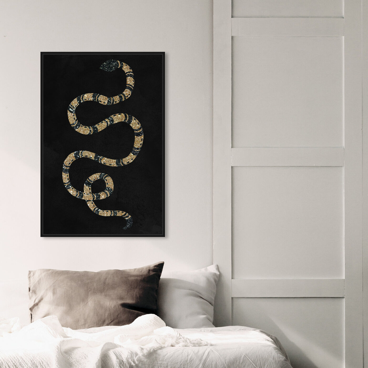 Hanging view of Ebony Snake featuring animals and zoo and wild animals art.