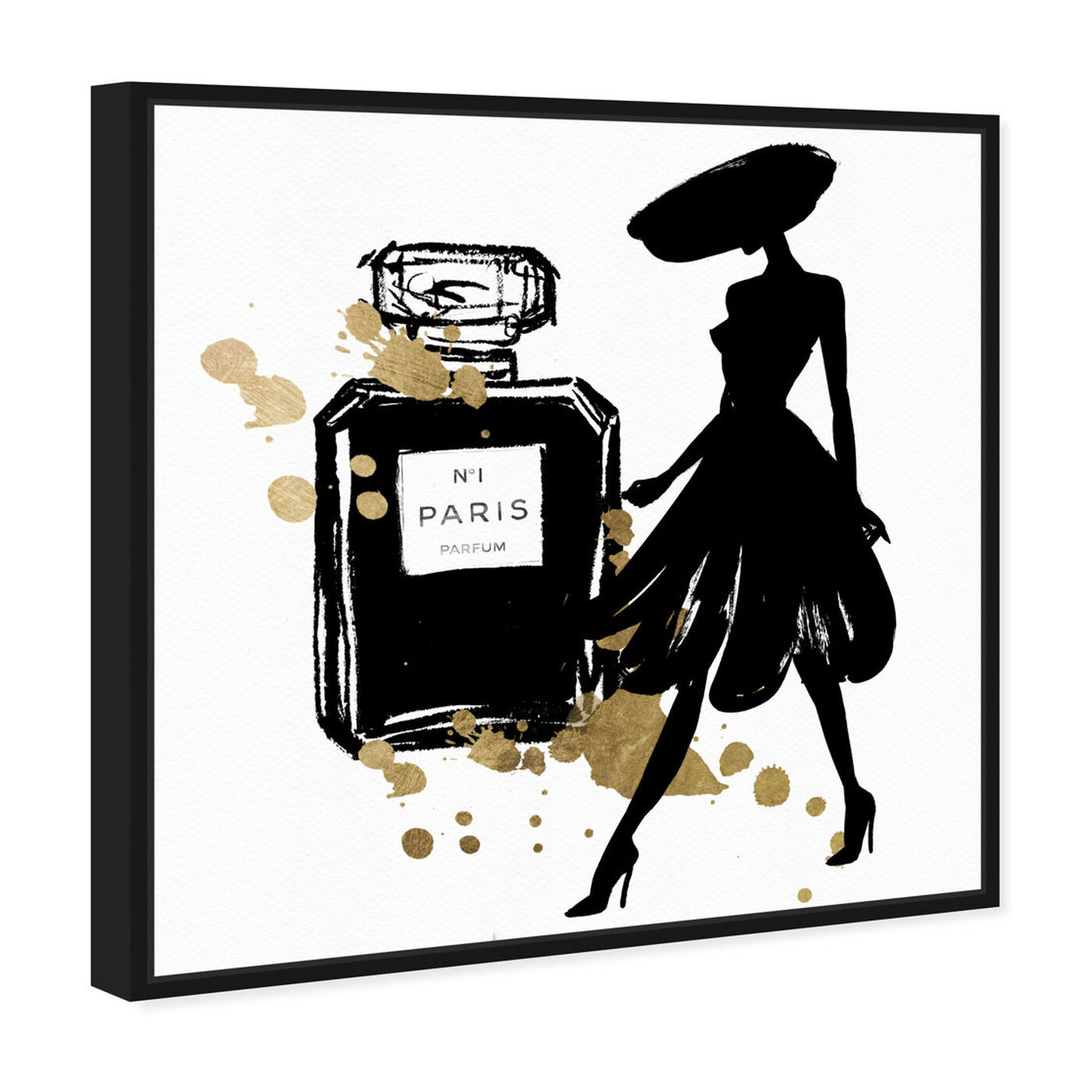 Angled view of Mas Pasarela Paris featuring fashion and glam and perfumes art.