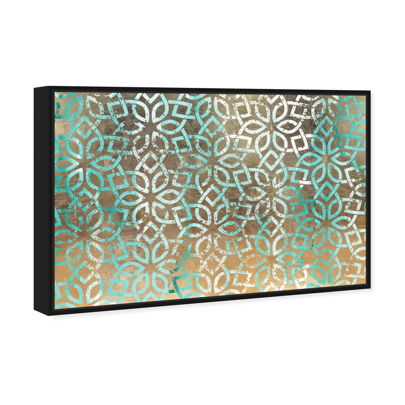 Angled view of Regal Jade Lattice featuring abstract and patterns art.