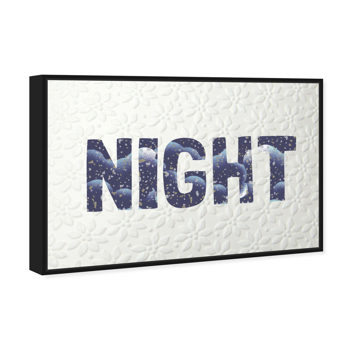 Angled view of Night Blue featuring typography and quotes and quotes and sayings art.