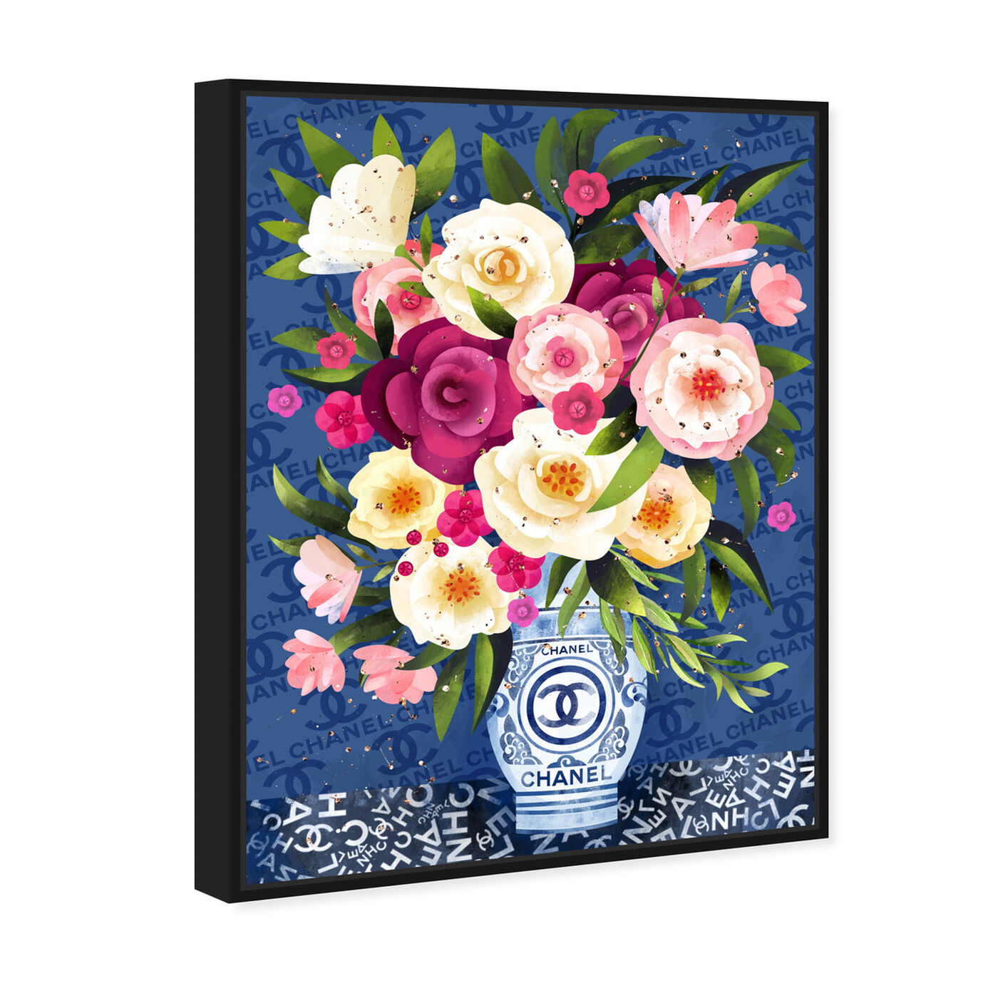 Angled view of Coco Blues Bouquet featuring floral and botanical and florals art.