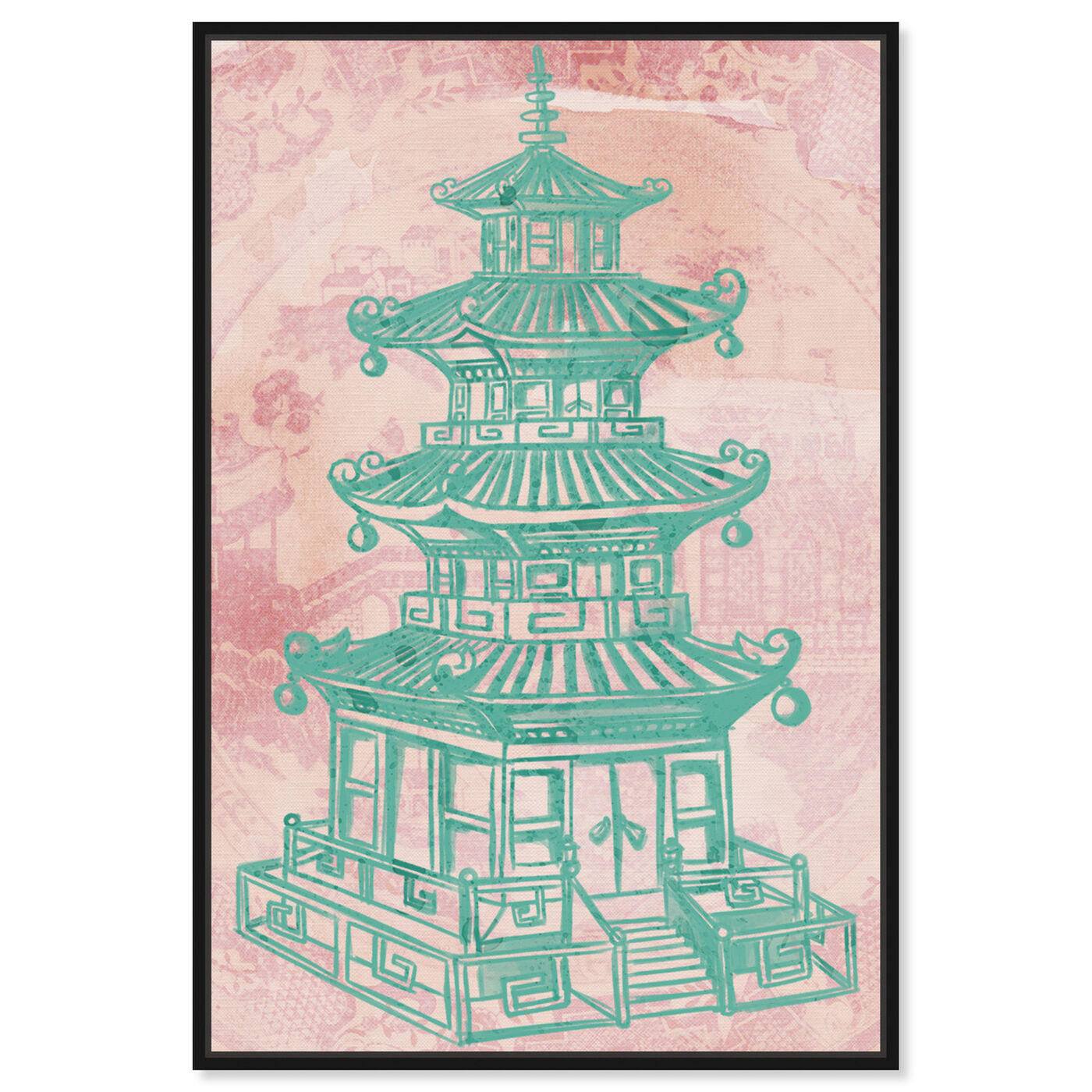 Front view of Pagoda Rose featuring world and countries and asian cultures art.