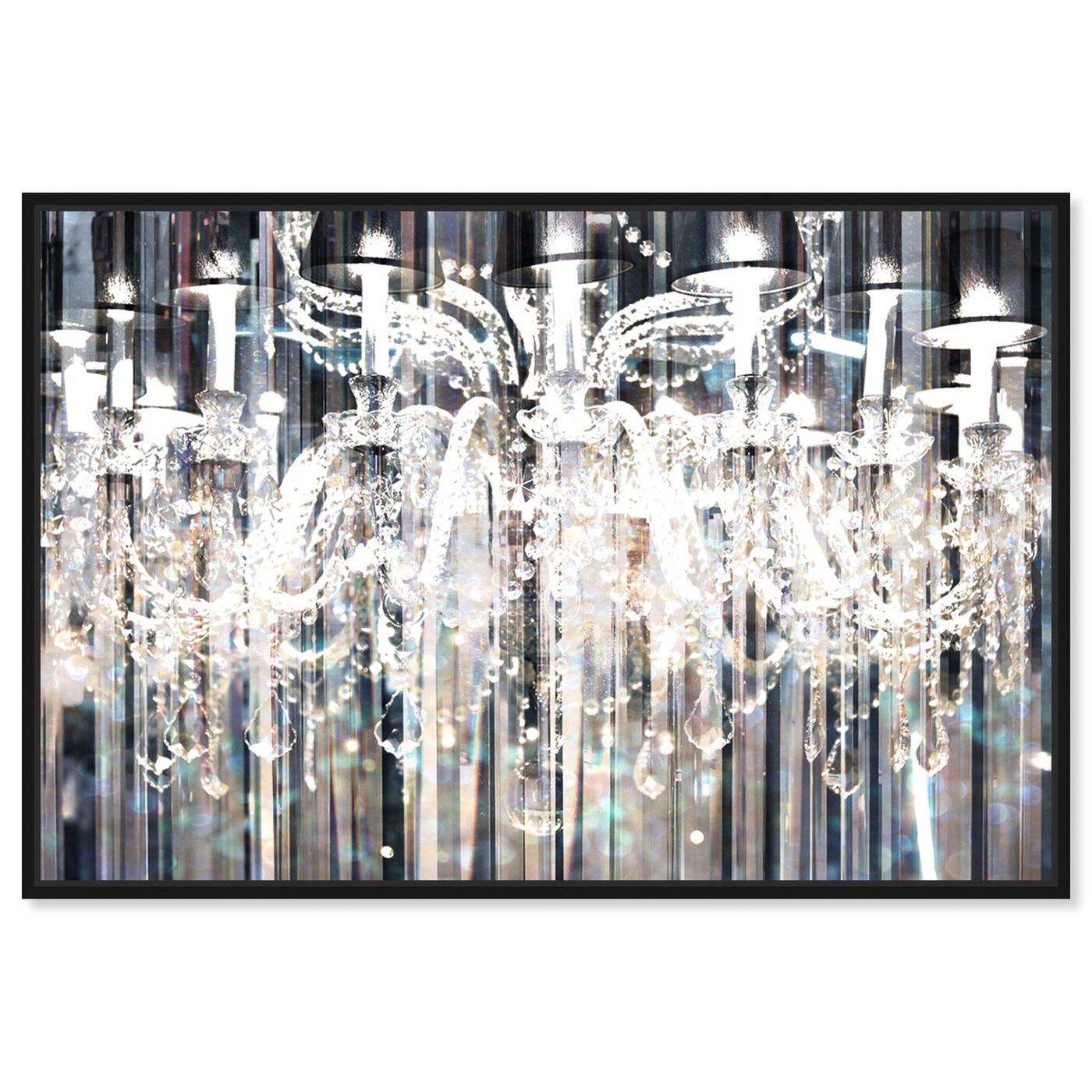Front view of Diamond Shower featuring fashion and glam and chandeliers art.