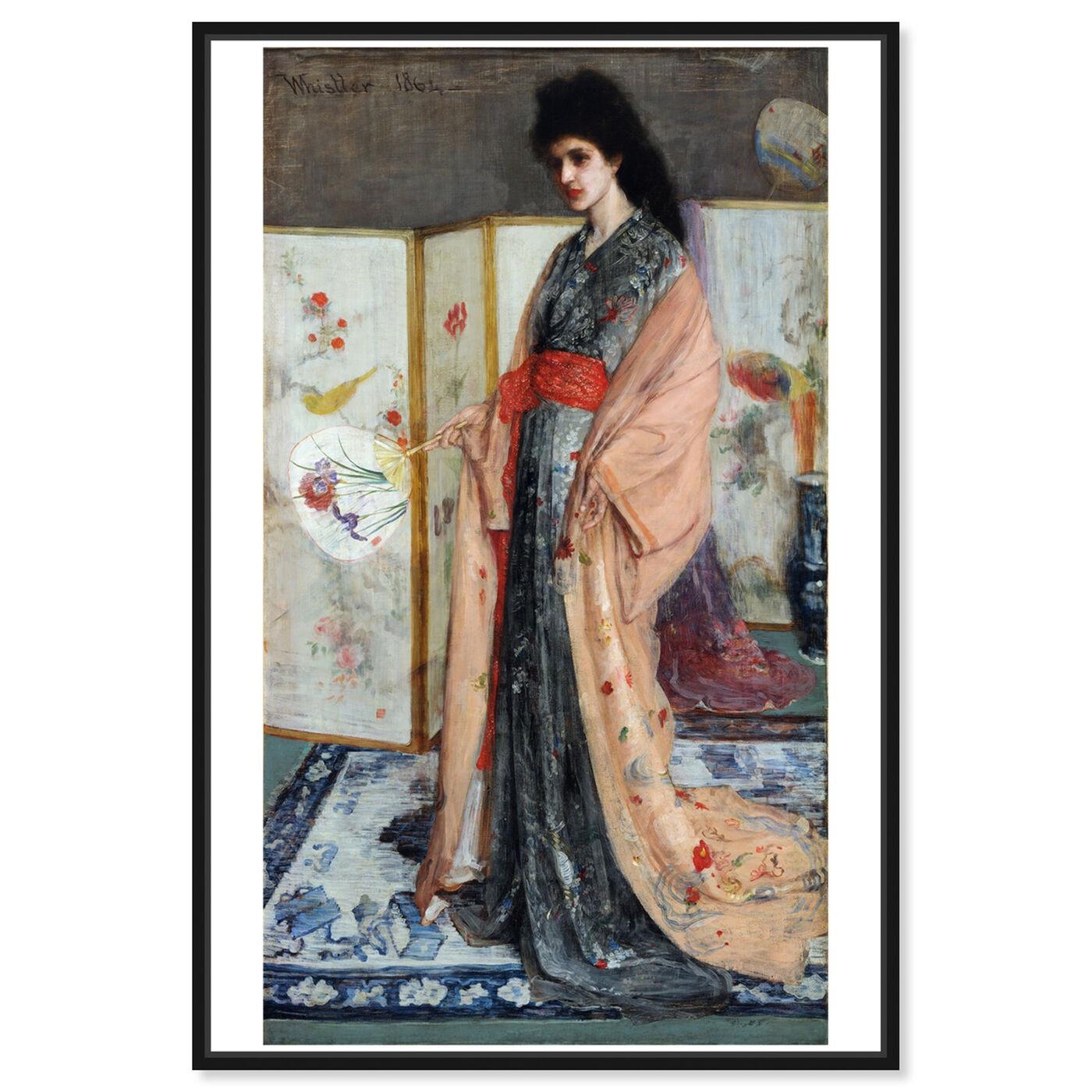 Front view of Whistler - La Princesse Du Pays De La Porcelaine featuring classic and figurative and classical figures art.