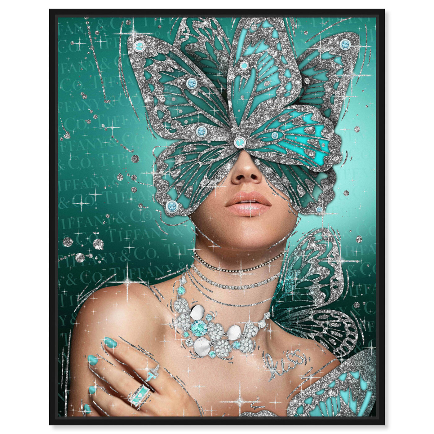 Front view of Turquoise Wings featuring fashion and glam and wings art.