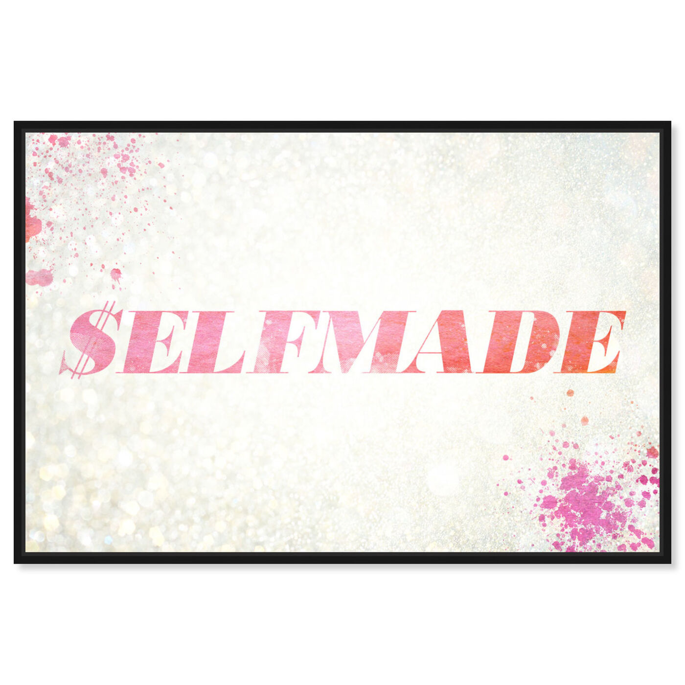 Front view of $elfmade Coral featuring typography and quotes and quotes and sayings art.