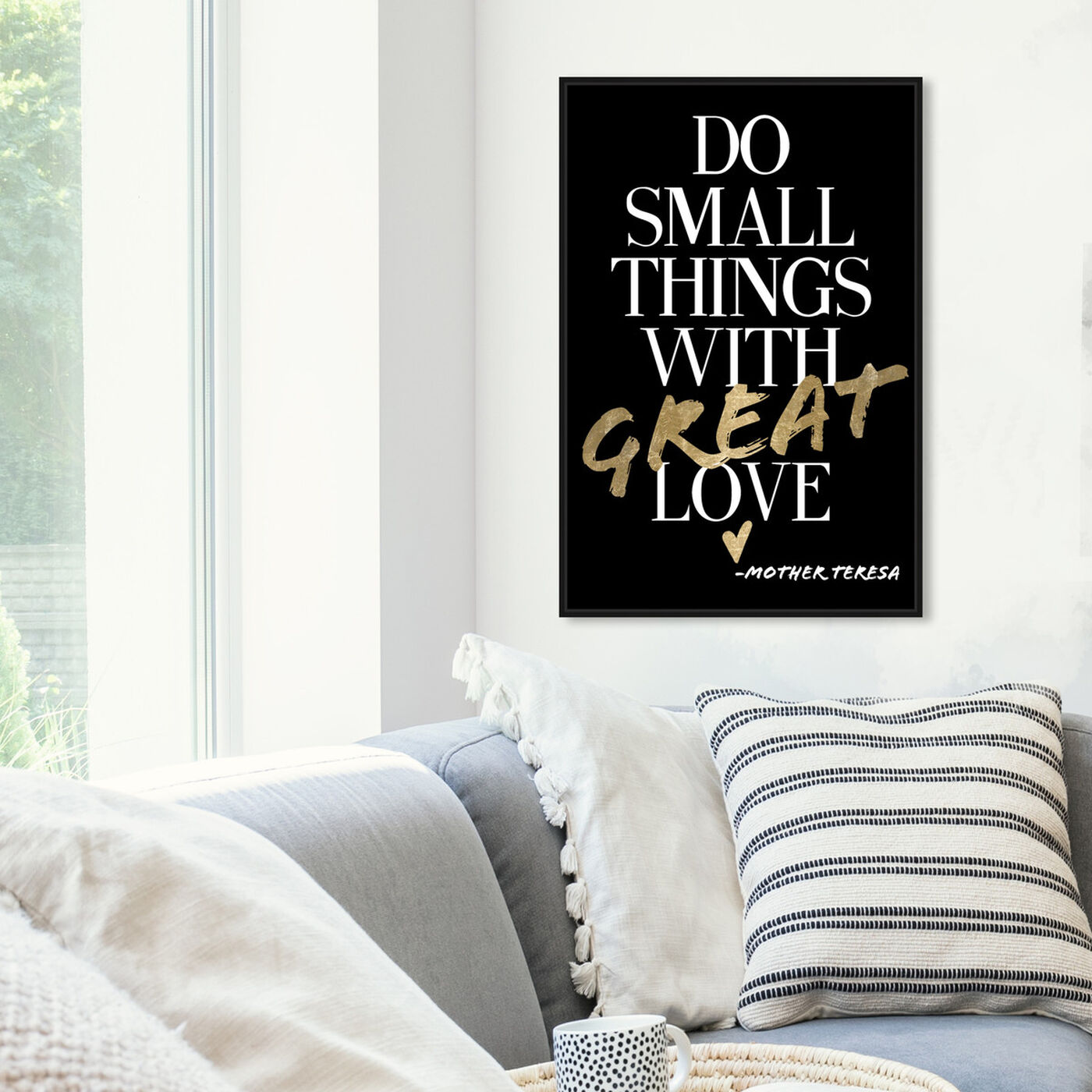 Hanging view of Do Things With Love I featuring typography and quotes and love quotes and sayings art.