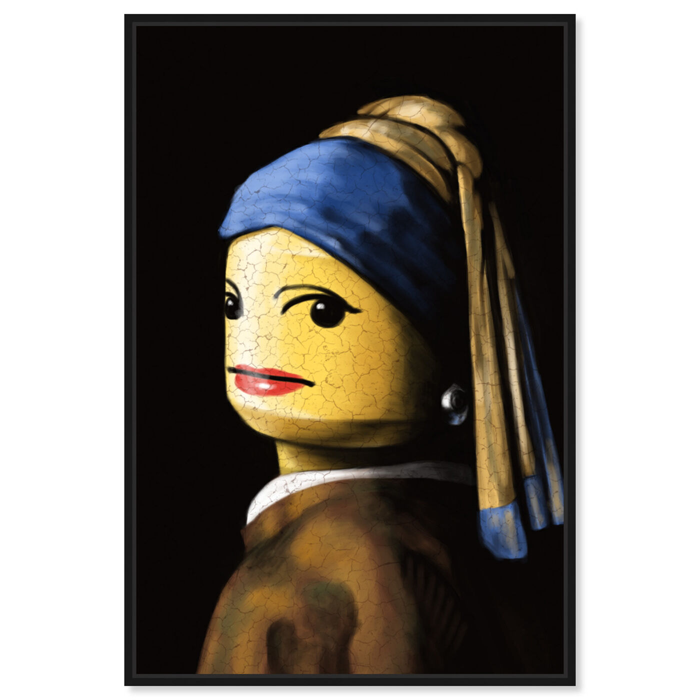 Front view of Toy with the Pearl Earring featuring classic and figurative and classic art.
