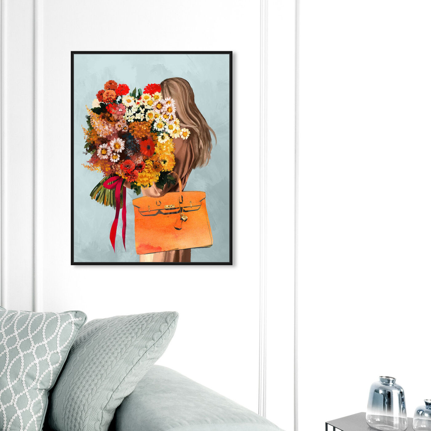 Hanging view of Autumn Bouquet featuring fashion and glam and handbags art.