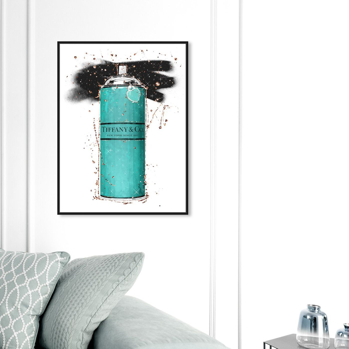 Hanging view of Heart Shaped Spray Blue featuring fashion and glam and lifestyle art.