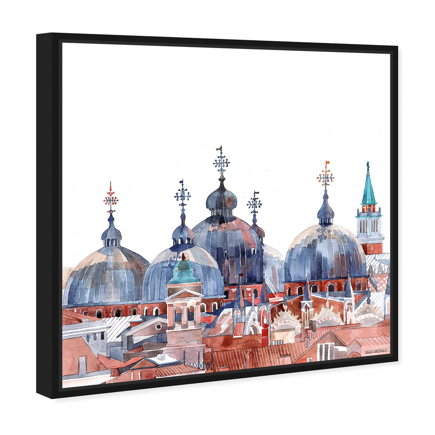 Angled view of Maja Wronska - Waterfront Vista Clear III featuring world and countries and asian countries art.
