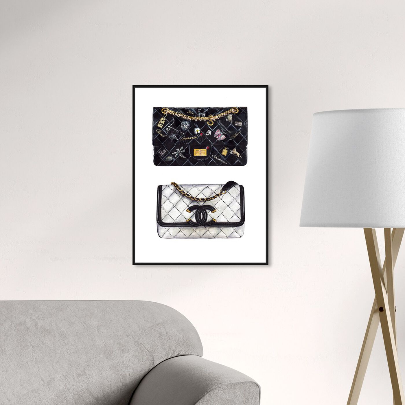 Hanging view of Doll Memories - Iconic Boy Bag featuring fashion and glam and handbags art.