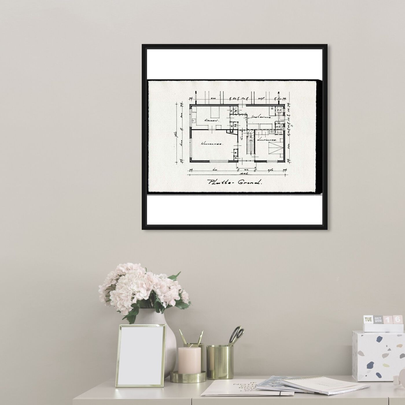 Hanging view of Dessins Architecturaux featuring architecture and buildings and structures art.