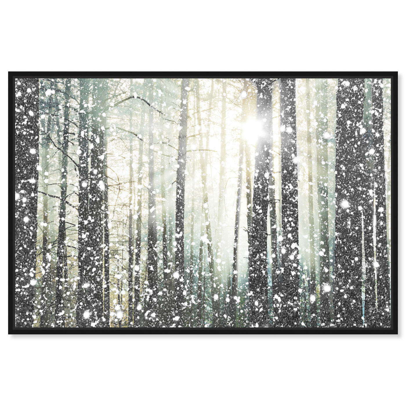 Front view of Magical Forest SILVER featuring nature and landscape and forest landscapes art.