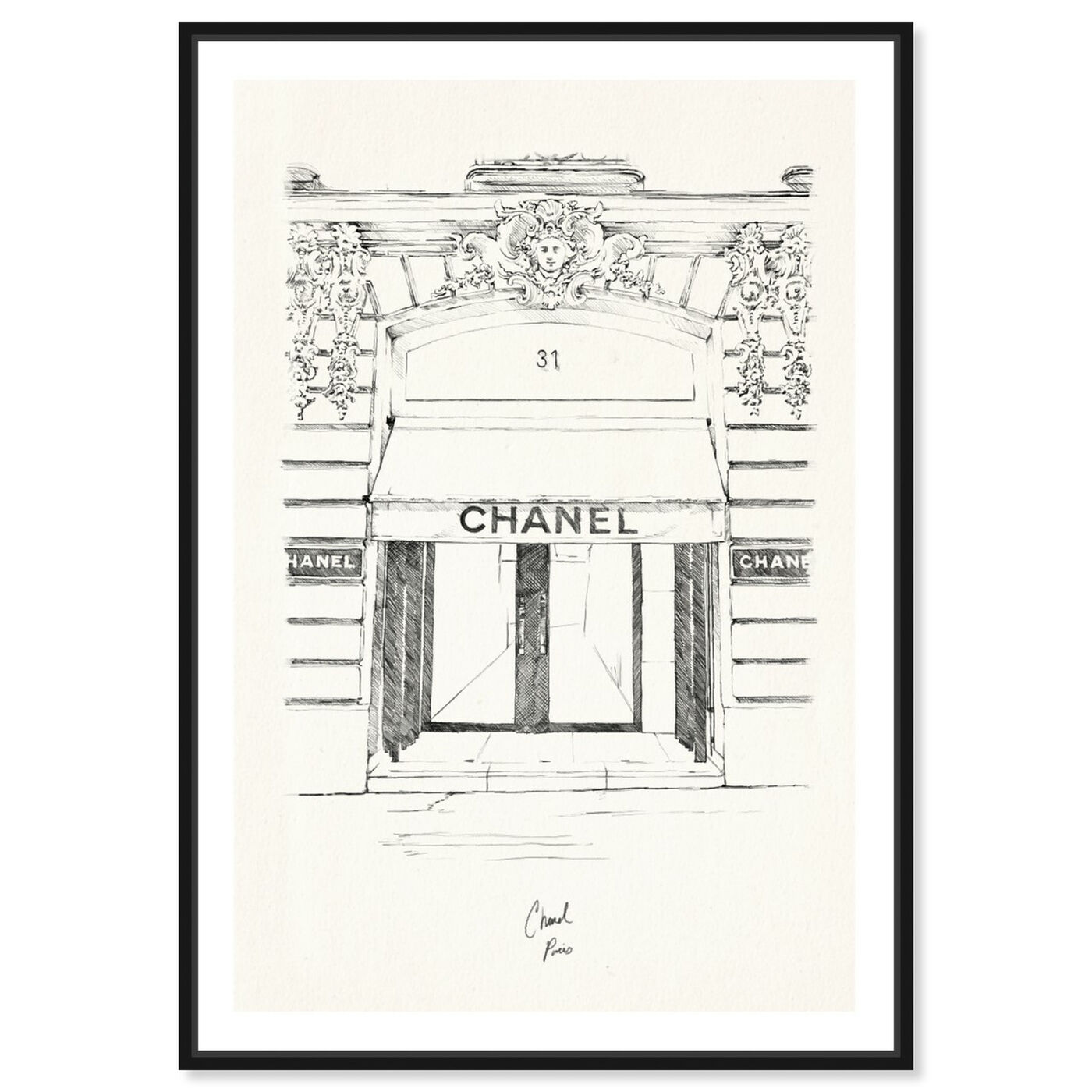 Front view of 31 Rue Cambon Paris featuring fashion and glam and lifestyle art.