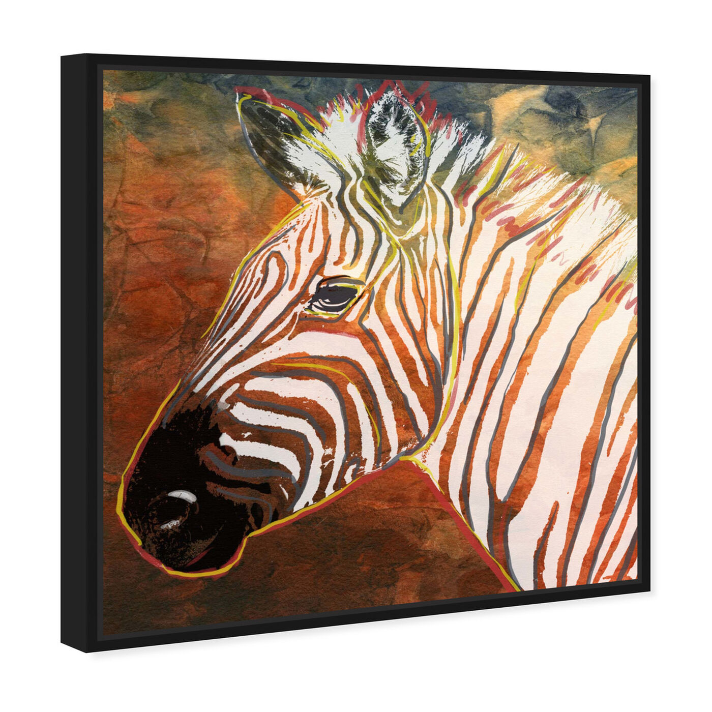 Angled view of Quagga Zebra featuring animals and zoo and wild animals art.